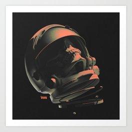 Space Skull Noir Art Print