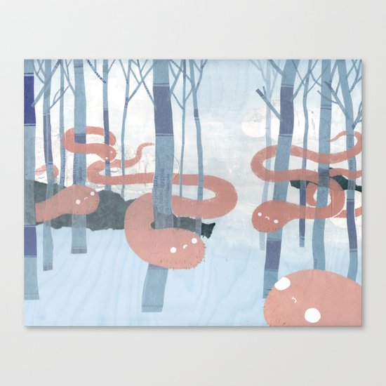 Snakes in the Forest Canvas Print