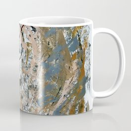 Symphony [2]: colorful abstract piece in gray, brown, pink, black and white Coffee Mug