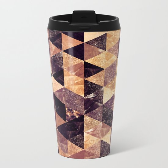 Abstract Geometric Background #3 Metal Travel Mug
