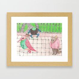 Bird, Frog, Mouse Framed Art Print
