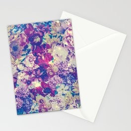 Cool Toned Interstellar Blooms Stationery Cards