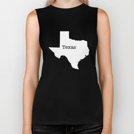Texas State outline  Biker Tank