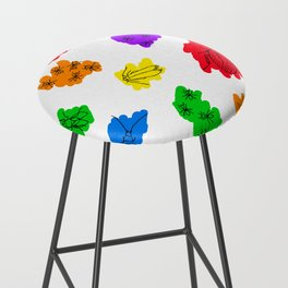 Uninvited Guests - Black Outline Bar Stool