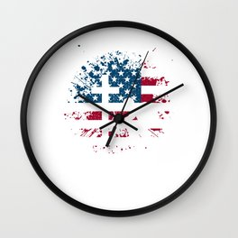 I Proudly Stand For The Flag Kneel For The Cross Wall Clock