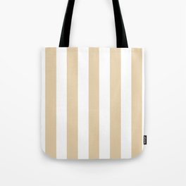 Durian White pink - solid color - white vertical lines pattern Tote Bag