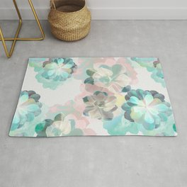 Succulent Pattern Rug