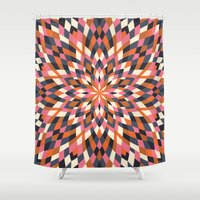 quilt Shower Curtains featuring Firework Quilt by Little Things Studio