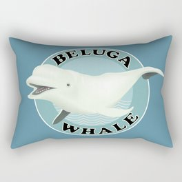 Beluga Whale Rectangular Pillow