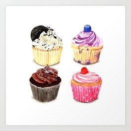 Cupcake selection Art Print