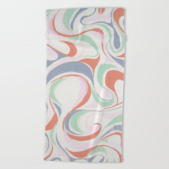 Abstract print design Beach Towel
