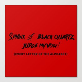 Every Letter of Alphabet Canvas Print