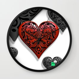 HEART ATTACK HD by JC LOGAN 4 Simply Blessed Wall Clock