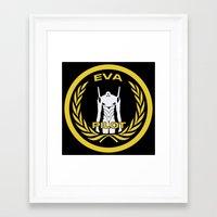 evangelion Framed Art Prints featuring Evangelion Pilot Logo by Artist Meli