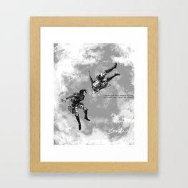 YC Falling Framed Art Print