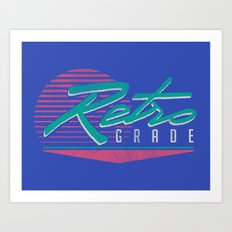 Retro Grade Art Print