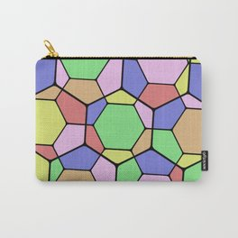 Stained Glass Tortoise Shell - Geometric, pastel, hexagon patterned artwork Carry-All Pouch