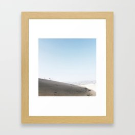 moon landing Framed Art Print