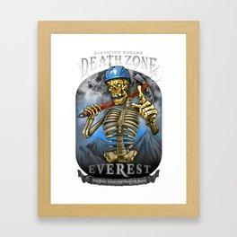 DEATH ZONE: EVEREST Framed Art Print