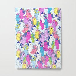 g1 my little pony sea pony collage Metal Print