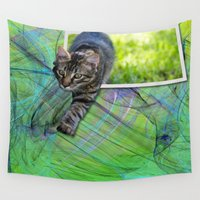 hunter Wall Tapestries featuring Little Hunter by Roger Wedegis