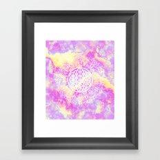 Flower Of Life (Batik 7) Framed Art Print
