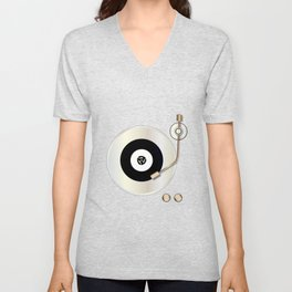 Record Player Unisex V-Neck