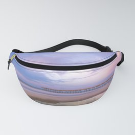 Pastel Sky, Beach Sunrise Fanny Pack