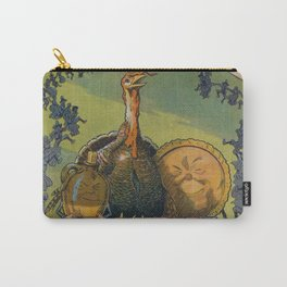 Vintage Thanksgiving Turkey and Feast Celebration (1913) Carry-All Pouch