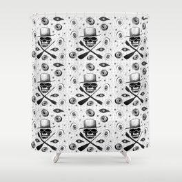 All-seeing death Shower Curtain