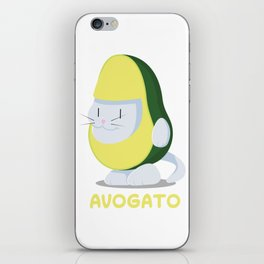 Delicious Avogato - Perfect For Cat & Avocado Lovers iPhone Skin