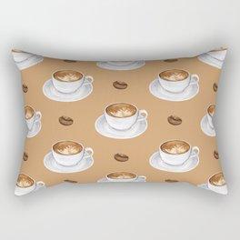 Coffee Cups - tan Rectangular Pillow