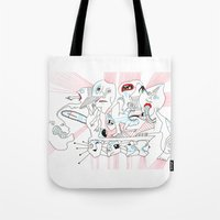 circus Tote Bags featuring CIRCUS by Vanja Cankovic