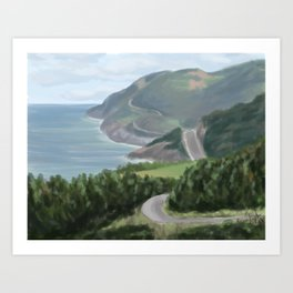 Cabot trail 1 Art Print