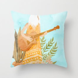 Music Soothes My Soul Throw Pillow