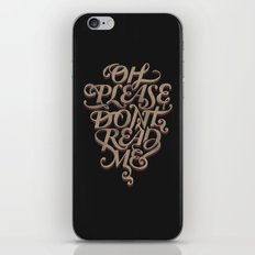 Please Don't iPhone & iPod Skin