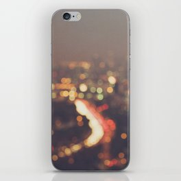 Los Angeles cityscape at night. Abstract Mulholland iPhone Skin