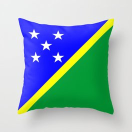 Solomon Islands country flag Throw Pillow