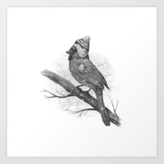First Snow (monochromatic) Art Print