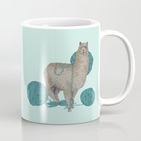 lama Mugs featuring Lama by Anoukisch