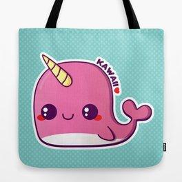 Kawaii Pink Narwhal Tote Bag