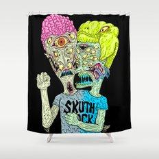 Monster Butthead Shower Curtain