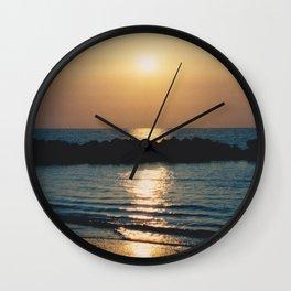 Sunset Ocean Bliss #6 #nature #art #society6 Wall Clock
