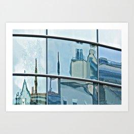 A Fair City Reflection Art Print