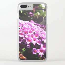Pink Buddleia Clear iPhone Case