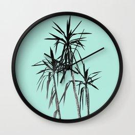 Palm Trees - Mint Cali Summer Vibes #1 #decor #art #society6 Wall Clock