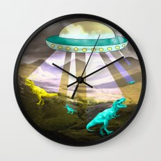 Aliens do exist - dino exctinction event Wall Clock