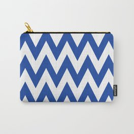 Team Spirit Chevron Royal Blue and White Carry-All Pouch