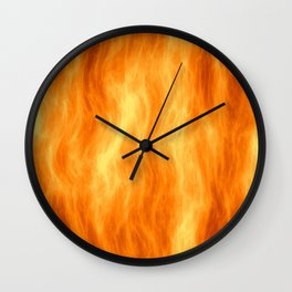 Red flame burning Wall Clock