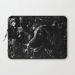 black labrador retriever dog wsbw Laptop Sleeve